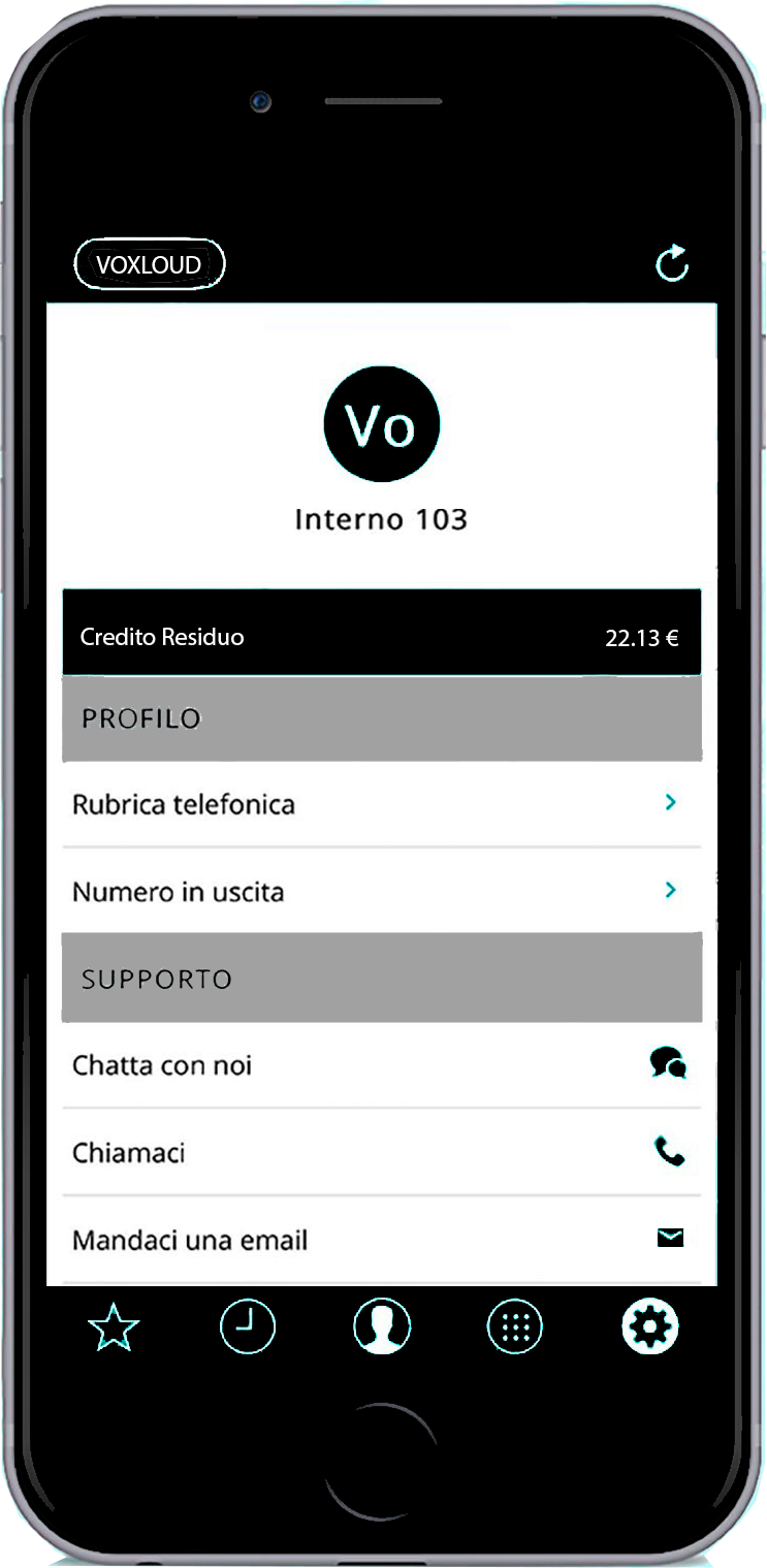 Voxloud app-ios-screen